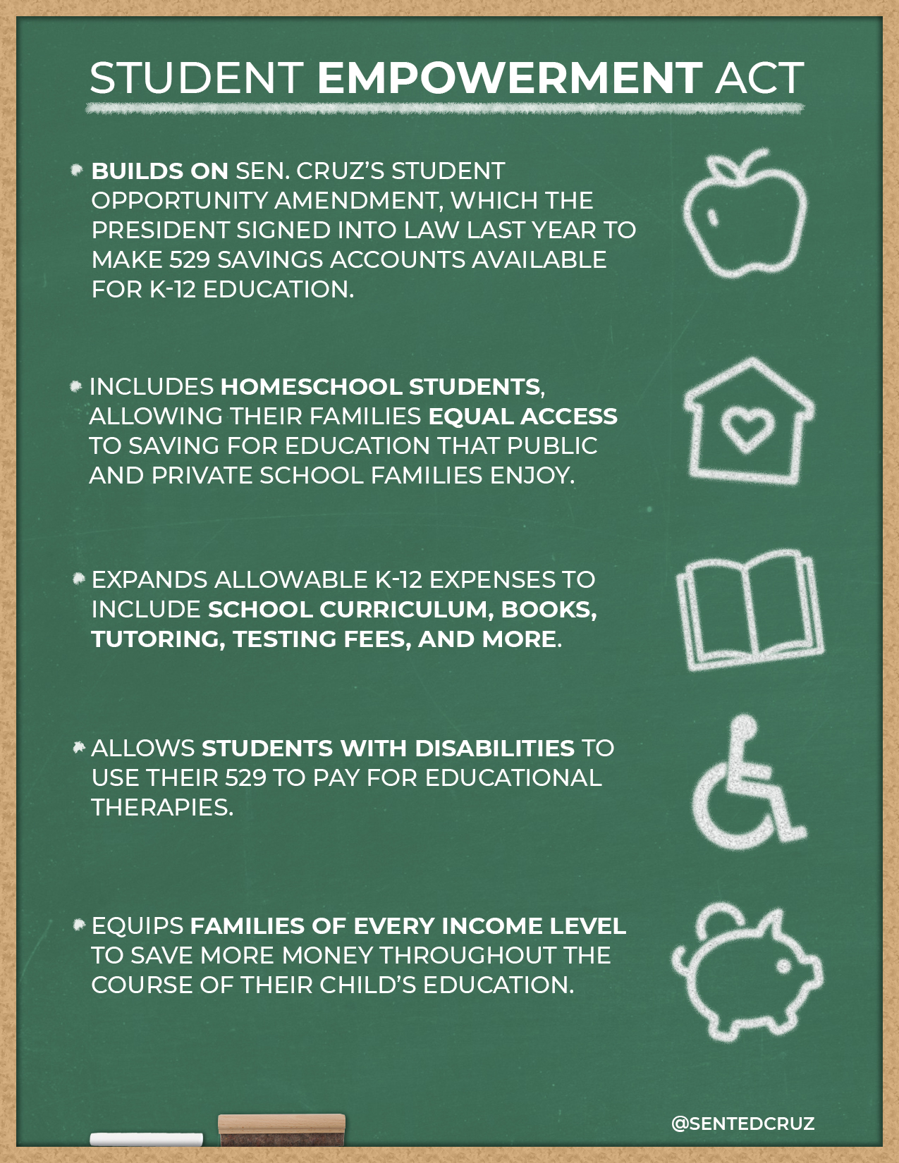 student empowerment Today i introduced the student empowerment act this bill would expand 529  college savings plans to include k-12 elementary and.