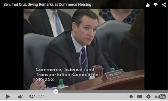 Sen. Ted Cruz Gives Remarks at Commerce Hearing