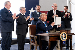 ted cruz and US president Donald trump